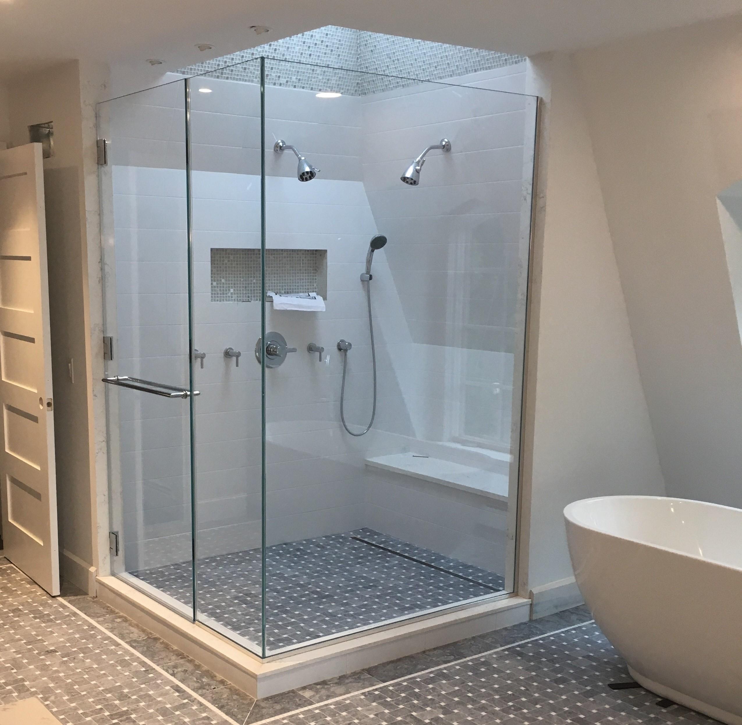 Monster Framless Enclosures: Cold Spring Shower Doors