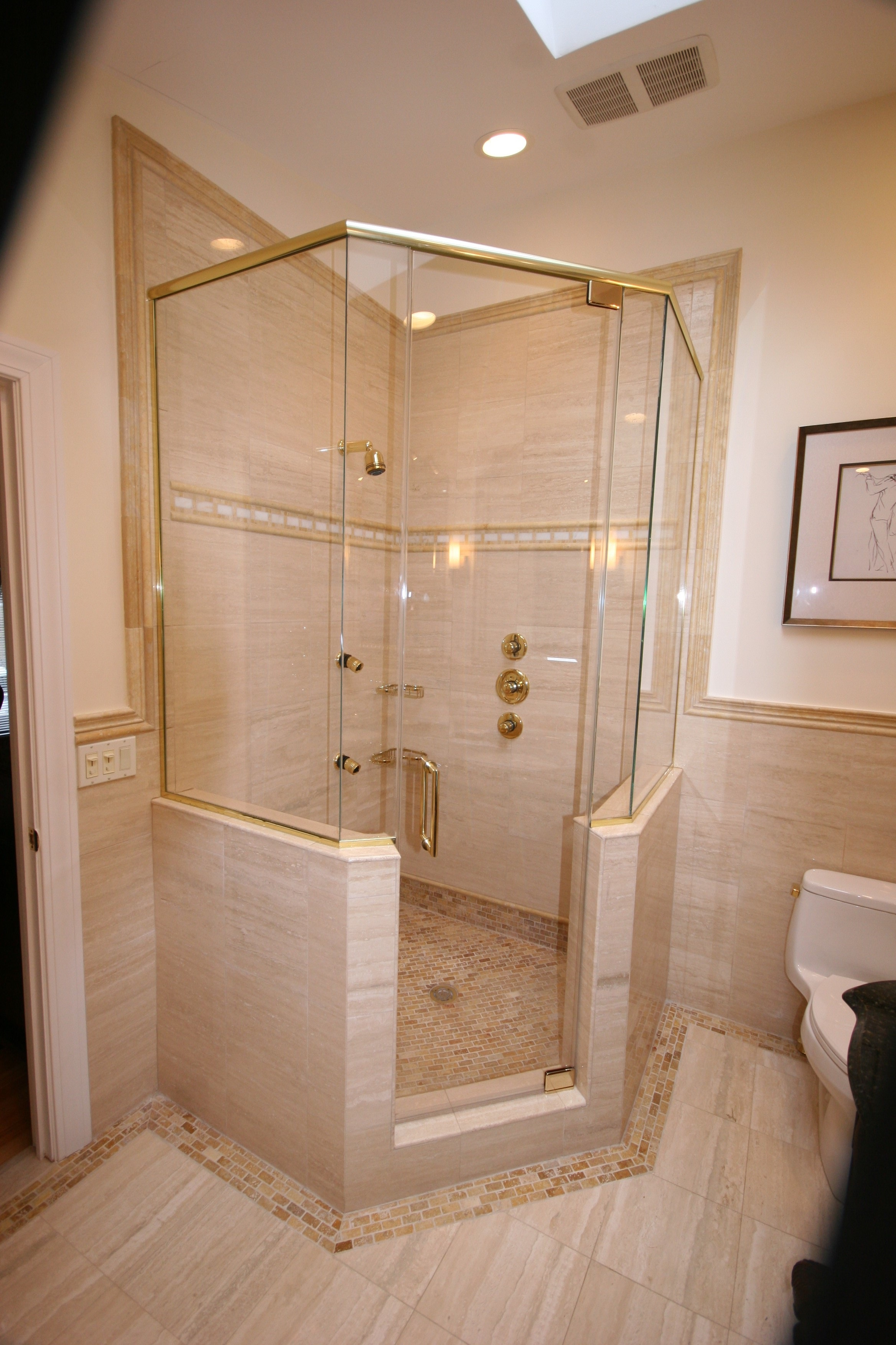 Complex Frameless Neo Angles Cold Spring Shower Doors